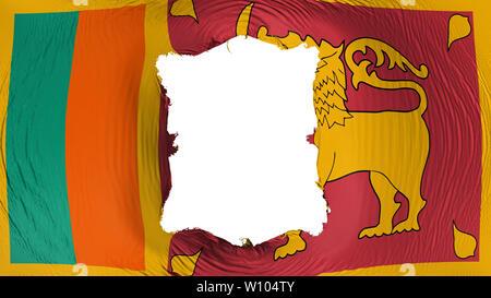 Square hole in the Sri Lanka flag - Stock Photo