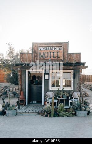 Motel in Pioneertown, California - Stock Photo