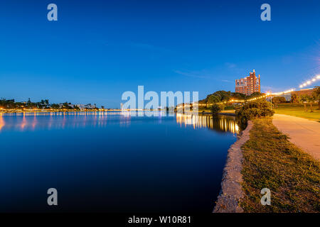 Lake Merritt at Blue Hour - Stock Photo