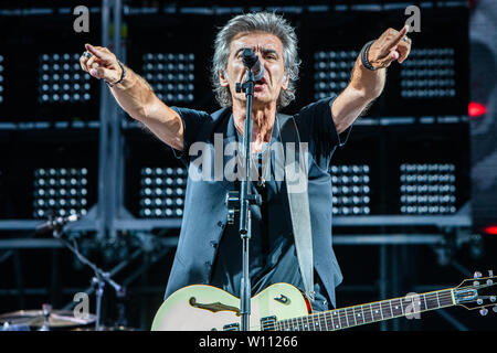 Milan Italy. 28 June 2019. The Italian singer/songwriter LUCIANO LIGABUE performs live on stage at Stadio San Siro during the 'Start Tour 2019' - Stock Photo