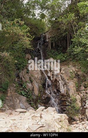 Small waterfall in Volcan Baru National Park Panama - Stock Photo