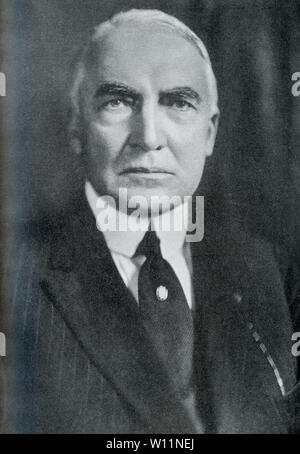 This photo dates to the 1920s and shows the 29th President of the United States, Warren Gamaliel Harding, who served as president from 1921-1923. - Stock Photo