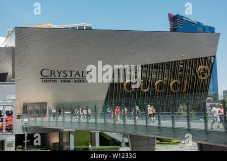 Las Vegas,AZ/USA - 6.27.2019:The Shops at Crystals, a luxury-goods shopping mall; In April 2016, Invesco and Simon Property Group purchased Crystals f - Stock Photo