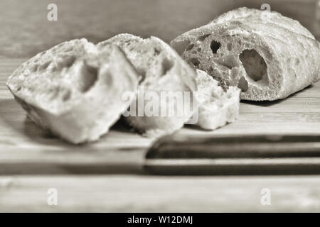 Sourdough bread has a taste and texture all its own. - Stock Photo
