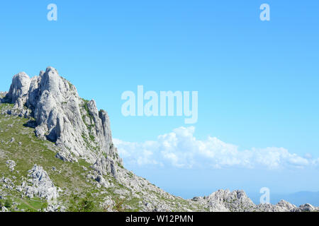 National park in Croatia, part of a mountins. This specific mountin is called Tulove grede - Stock Photo