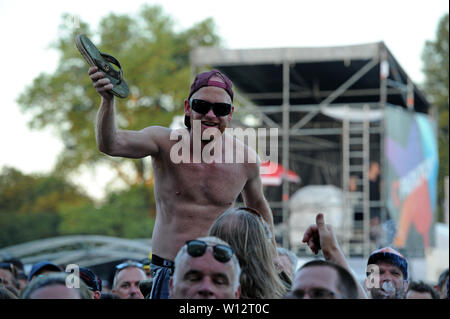 The Hague, Netherlands. 29th June, 2019. The Hague, 29-06-2019, Parkpop Saturday Night, Zuiderpark, Triggerfinger fans Credit: Pro Shots/Alamy Live News - Stock Photo
