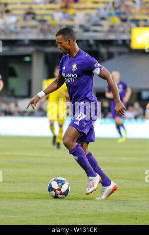 Saturday, June 29, 2019: Orlando City forward Nani (17) in the first half of the match between Orlando City and Columbus Crew SC at MAPFRE Stadium, in Columbus OH. Mandatory Photo Credit: Dorn Byg/Cal Sport Media. Orlando City 2 - Columbus Crew SC 0 at the end of the match - Stock Photo