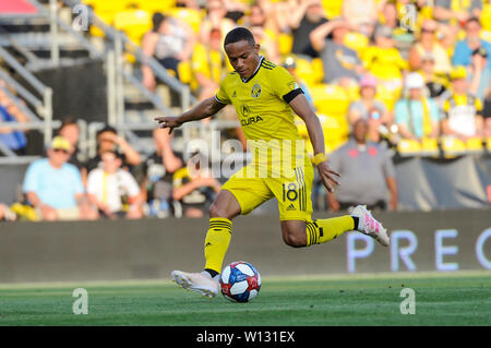 Saturday, June 29, 2019: Columbus Crew SC forward Robinho (18) in the first half of the match between Orlando City and Columbus Crew SC at MAPFRE Stadium, in Columbus OH. Mandatory Photo Credit: Dorn Byg/Cal Sport Media. Orlando City 1 - Columbus Crew SC 0 after the first half - Stock Photo