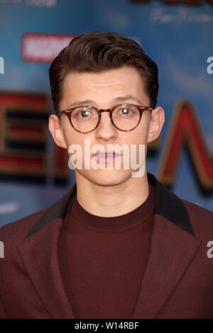 "Tom Holland  06/26/2019 ""Spider-Man: Far From Home"" Premiere held at the TCL Chinese Theatre in Hollywood, CA  Photo: Cronos/Hollywood News - Stock Photo"