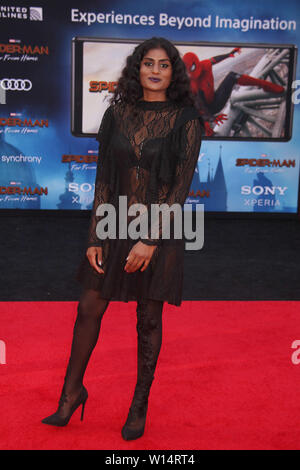 """Los Angeles, USA. 26th June, 2019. Kumari 06/26/2019 """"Spider-Man: Far From Home"""" Premiere held at the TCL Chinese Theatre in Hollywood, CA Credit: Cronos/Alamy Live News - Stock Photo"""