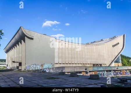 Vilnius, Lithuania - May 08, 2019: New style, naktinis klubas, Multimedia. - Stock Photo