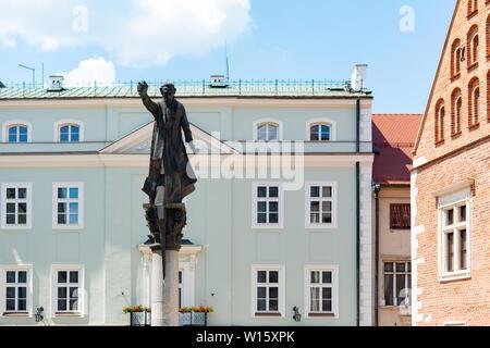 Krakow, Poland, 10 May 2019 - Piotr Skarga statue in Krakow, Poland - Stock Photo