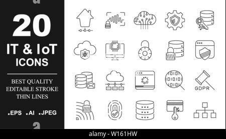 Set icons vector for mobile concepts and web apps. Devices and technologies around us. Internet of things, devices and network connection concept - Stock Photo