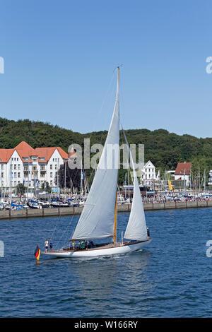 sailing boat, 125. Kiel Week, Kiel, Schleswig-Holstein, Germany - Stock Photo