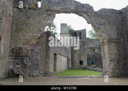 Wolvesey Castle, Winchester, Hampshire, UK - Stock Photo