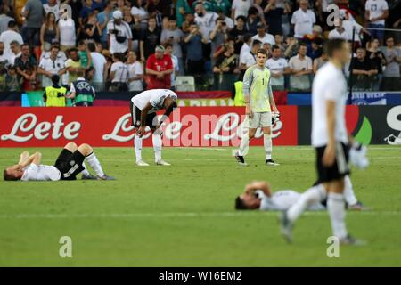 Udine, Italien. 30th June, 2019. firo: 30.06.2019, Football, International, UEFA U21 European Championship 2019, Final, Germany - Spain, Alexander Nubel, Germany, Germany, DFB, GER, Enttauschung, | usage worldwide Credit: dpa/Alamy Live News - Stock Photo