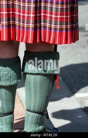 A man wearing traditional Scottish clothing - Stock Photo