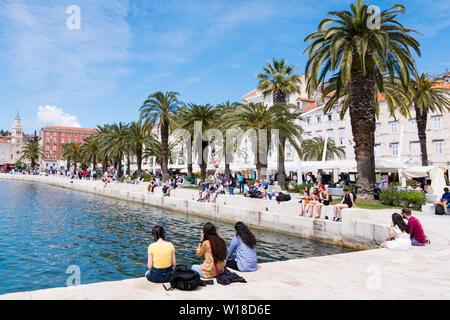 Riva, seaside promenade, Split, Dalmatia, Croatia