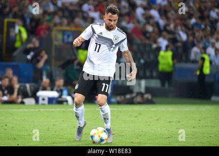 Marco RICHTER (GER), Action, Single Action, Frame, Cut Out, Full Body, Whole Figure. Spain (ESP) - Germany (GER) 2-1, at 30.06.2019 Stadio Friuli Udine. Football U-21, FINALE UEFA Under21 European Championship in Italy/SanMarino from 16.-30.06.2019. | Usage worldwide - Stock Photo