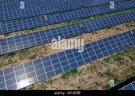 Solar power plant for the production of