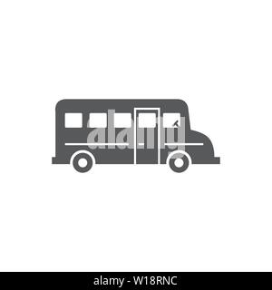 School Bus Icon on white background - Stock Photo