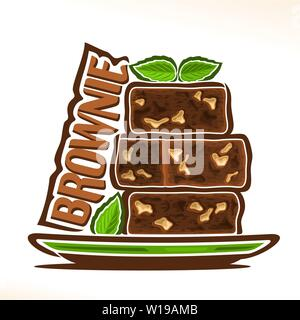 Vector logo for Brownie - Stock Photo