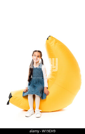 Super Kid In Casual Clothes Sitting On Bean Bag Chair And Reading Unemploymentrelief Wooden Chair Designs For Living Room Unemploymentrelieforg