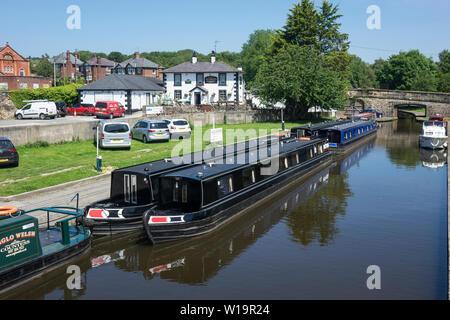 Wales, Denbighshire, Trevor basin, Pontcysyllte, Llangollen canal - Stock Photo