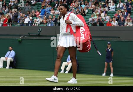London, UK. 01st July, 2019. VENUS WILLIAMS, USA, 2019 Credit: Allstar Picture Library/Alamy Live News - Stock Photo