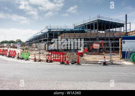Aldi store in Chelmsford under construction. - Stock Photo