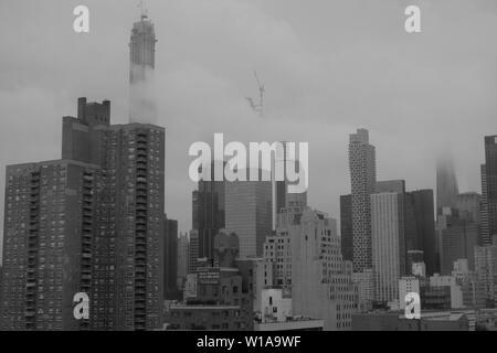 An image of Midtown Manhattan in New York City, New York - Stock Photo