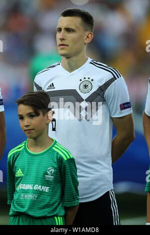 Udine, Italien. 30th June, 2019. firo: 30.06.2019, Football, International, UEFA U21 European Championship 2019, Final, Germany - Spain, Maximilian Eggestein, Germany, Germany, DFB, GER, half figure, | usage worldwide Credit: dpa/Alamy Live News - Stock Photo