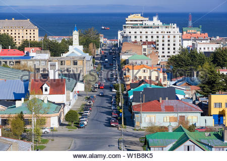 View of Punta Arenas, Chile, South America - Stock Photo
