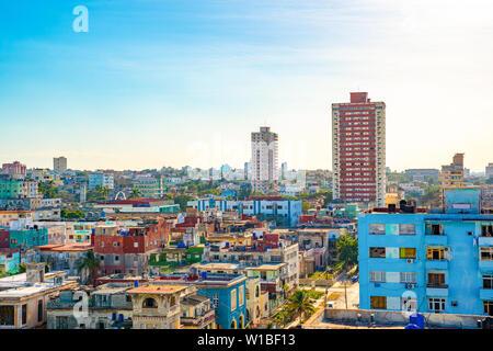 Panoramic View of Havana, Cuba. - Stock Photo