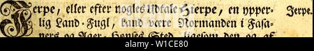 Archive image from page 608 of Det første forsøg paa Norges. Det første forsøg paa Norges naturlige historie : førestillende dette kongeriges luft, grund, fielde, vande, vaexter, metaller, mineralier, steen-arter, dyr, fugle, fiske og omsider indbyggernes naturel, samt saedvaner og levemaade . detfrsteforsgpaa00pont Year: 1752  mm (o) mm 129 Set jtofte Eapitel gottfetteife om gugletm §. 1. erpÂ«/ Smfce, Softtgl, Sviff. 2. tdD, iesmeife, i?tage, itramÃfugl, Mtyftk, grtttgføie, fiaitÂ«, Serfe, £om/CuiiE). 3. Â«S?aagÂ«, afcjfiflige fortet, SBuÃ&tt, IftatDafÂ«, 9to>t>umti& $Mbe, 9tøt& - Stock Photo