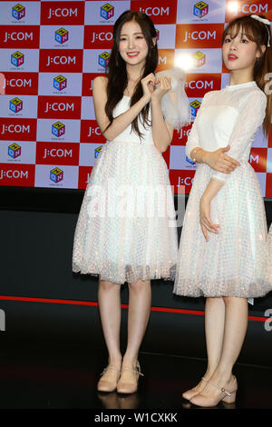 ARIN(OH MY GIRL), July 1, 2019 : K-pop girls group OH MY GIRL attends 'M-ON! X OH MY GIRL Special Event' in Tokyo, Japan on July 1, 2019. Credit: Pasya/AFLO/Alamy Live News - Stock Photo