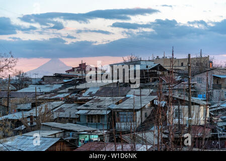 View of Yerevan city districts - Stock Photo