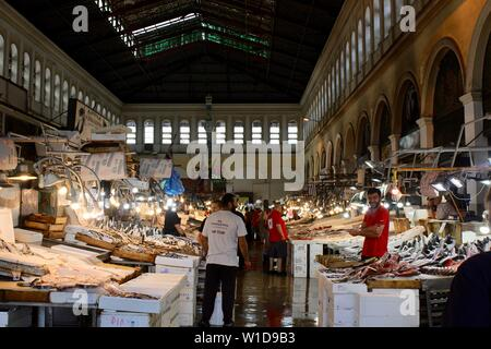 Central Municipal Athens Market - Stock Photo