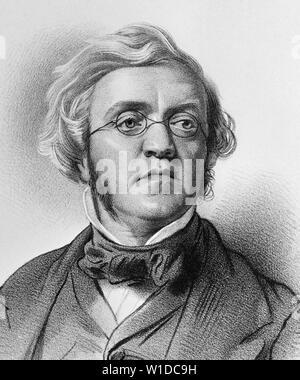 WILLIAM MAKEPEACE THACKERAY (1811-1863) British novelist - Stock Photo
