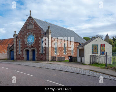 The Victoria Hall, High Street, Cromarty, Black Isle, Scotland. A 19th Century drill hall now used for community events. - Stock Photo