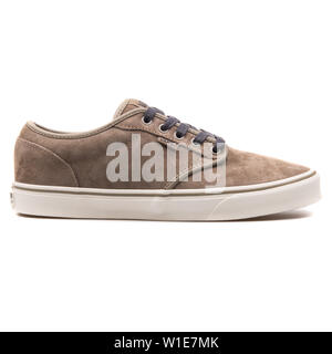 VIENNA, AUSTRIA - AUGUST 25, 2017: Vans Atwood Brindle sneaker on white background. - Stock Photo
