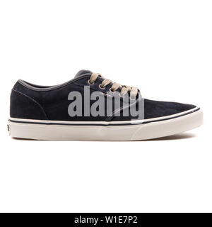 VIENNA, AUSTRIA - AUGUST 25, 2017: DC Atwood graphite sneaker on white background. - Stock Photo