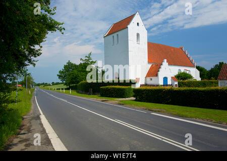Braendekilde church, Odense, Funen, Denmark - Stock Photo