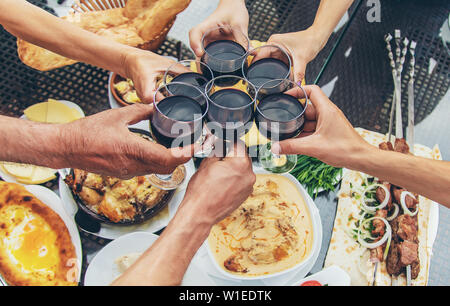 Georgian dishes on the table. Selective focus. nature - Stock Photo