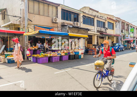Campbell Street Market within George Town, UNESCO World Heritage Site, Penang Island, Malaysia, Southeast Asia, Asia - Stock Photo