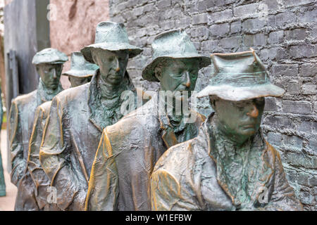 View of statue of a Great Depression bread line at the Franklin D. Roosevelt Memorial, Washington, D.C., United States of America, North America Stock Photo