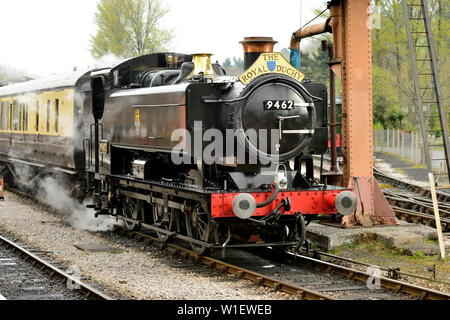GWR Class 9400 pannier tank No 9466 at Buckfastleigh during the South Devon Railway's 50th anniversary gala. The loco is running as No 9462. - Stock Photo