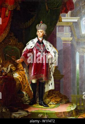 Vladimir Borovikovsky, Paul I of Russia in Coronation Robes,1754-1801, portrait painting, 1800 - Stock Photo