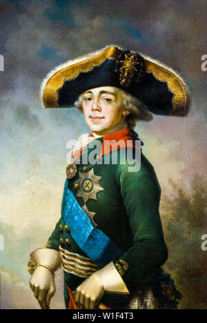 Vladimir Borovikovsky, Paul I, Emperor of Russia, 1754-1801, portrait painting, 1796 - Stock Photo