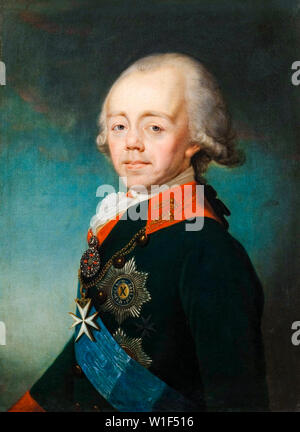 Emperor Paul I of Russia, 1754-1801, portrait painting, 1790-1799 - Stock Photo